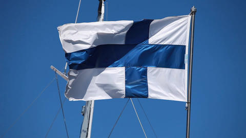 Finnish Flag stock footage