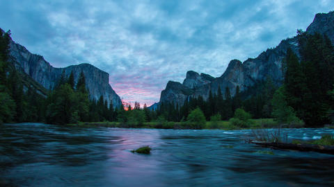 Morning Of Yosemite Valley stock footage