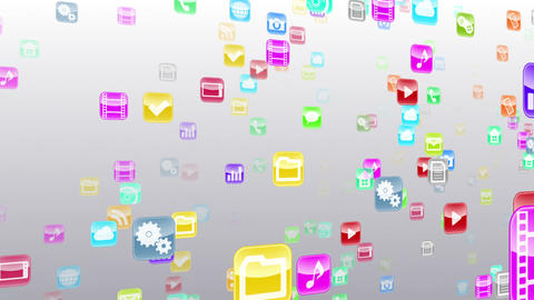 Smart Phone apps S Nb 1w 1 HD Stock Video Footage