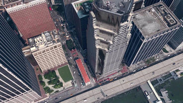 aerial view of New york building,spectacular city landscape Stock Video Footage