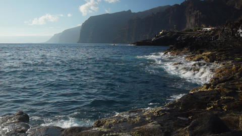 Los Gigantes Stock Video Footage