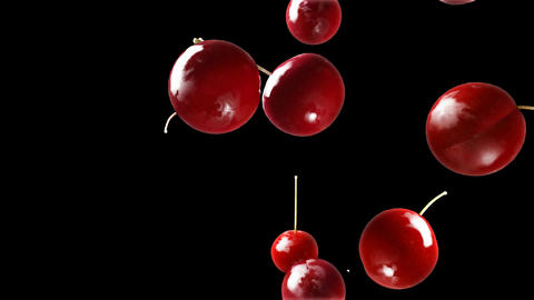 cherry falling down black Animation