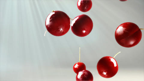 cherry falling down volume light flare Animation