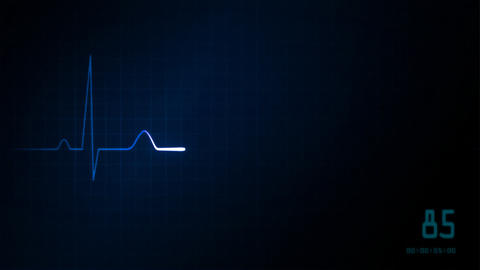 EKG monitor red love heart Animation