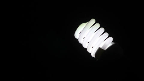 Energy saving Light Bulb 1 Stock Video Footage