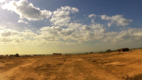 Desert Car Trip 07 Stock Video Footage