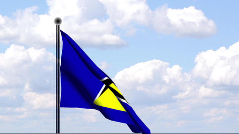 Animated Flag of St. Lucia Stock Video Footage