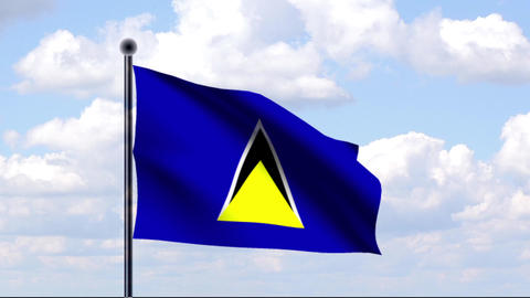 Animated Flag of St. Lucia Animation