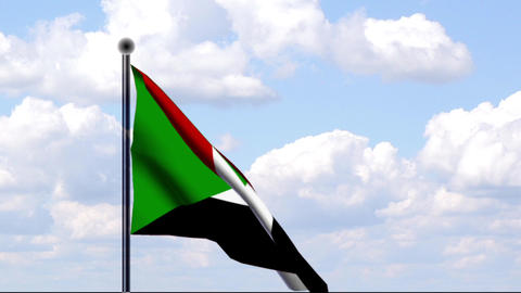 Animated Flag of Sudan Stock Video Footage
