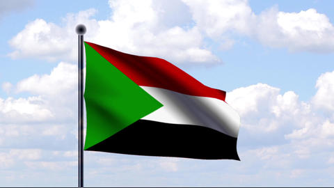 Animated Flag of Sudan Stock Video Footage