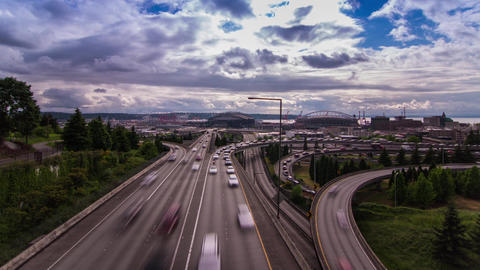 High Impact Trafic in Seattle Stock Video Footage