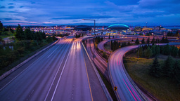 Time Lapse of High Impact Busy Traffic in Seattle Stock Video Footage