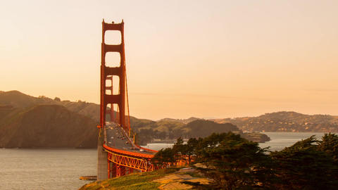 Time Lapse Traffic on Golden Gate Bridge Stock Video Footage