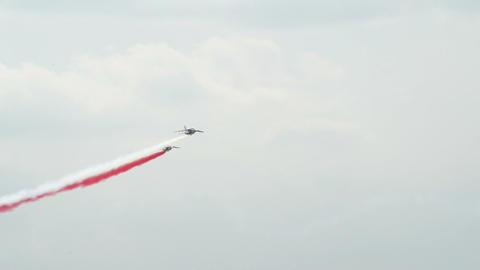 Patrouille France four soloists flight encou 10989 Stock Video Footage