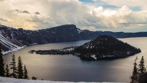 Clouds Formation at Crater Lake Footage