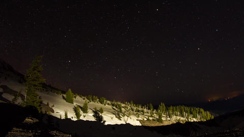 Mt. Hood Night Sky Stock Video Footage