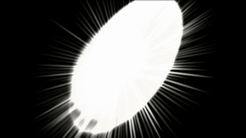 white round shaped circle chain,dazzling rays light Animation