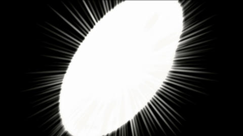 white round shaped circle chain,dazzling rays light Stock Video Footage