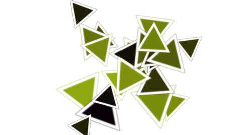 green triangles card mosaics flying,abstract math geometry Animation