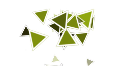 green triangles card mosaics flying,abstract math geometry Stock Video Footage