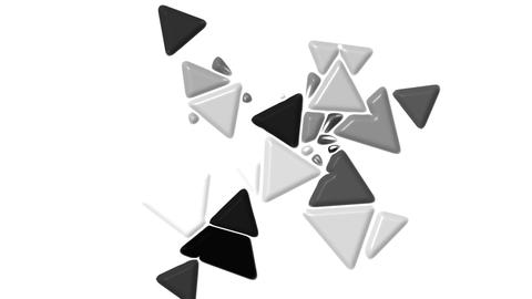 gray plastic triangles card mosaics flying,abstract math geometry Animation