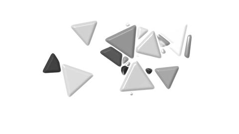 gray plastic triangles card mosaics flying,abstract math... Stock Video Footage