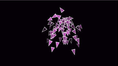 purple triangles card mosaics flying,abstract math geometry Stock Video Footage