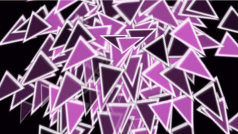 color triangles card mosaics flying,abstract math geometry Stock Video Footage