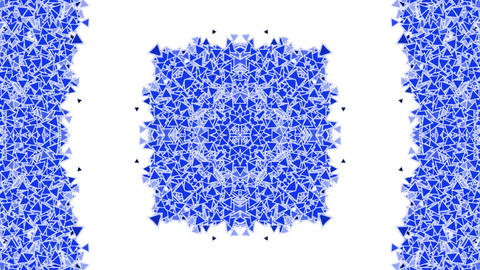 china blue and white porcelain pattern,east triangle fancy texture Animation