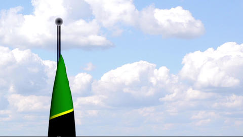 Animated Flag of Tanzania / Tansania Stock Video Footage