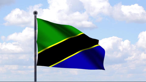 Animated Flag of Tanzania / Tansania Animation