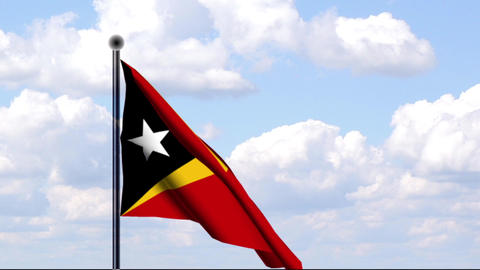 Animated Flag of Timor-Leste Stock Video Footage