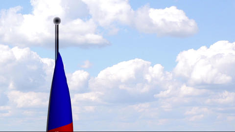 Animated Flag of Czech Republic / Tschechien Stock Video Footage