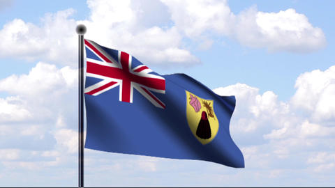 Animated Flag of Turks and Caicos Islands Stock Video Footage