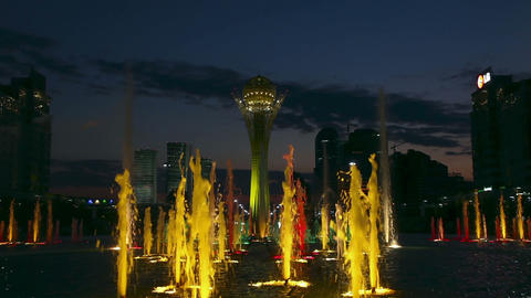 Light colour fountain Footage