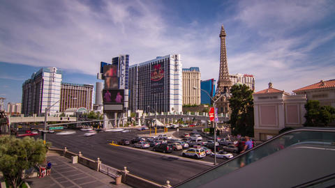 Day Traffic of People and Automobile on The Strip Stock Video Footage