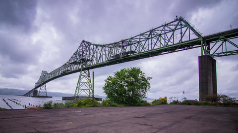 Megler Bridge in Astoria, Oregon Stock Video Footage