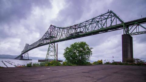 Megler Bridge in Astoria, Oregon Stock Video Footage
