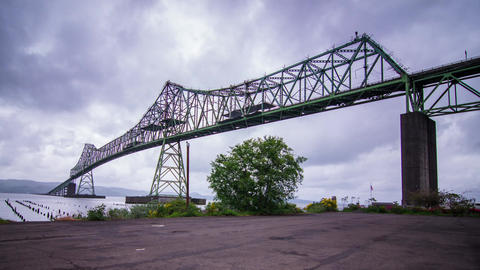 Megler Bridge in Astoria, Oregon Footage