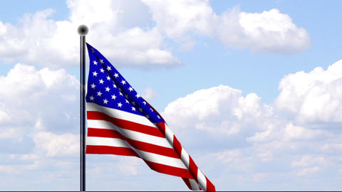 Animated Flag of USA Stock Video Footage