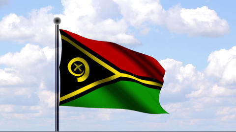 Animated Flag of Vanuatu Stock Video Footage