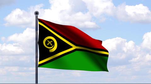 Animated Flag of Vanuatu Stock Video Footage