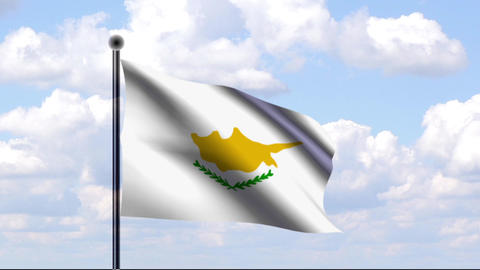 Animated Flag of Cyprus / Zypern Stock Video Footage