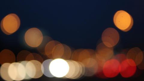 Night glare City 2 Stock Video Footage