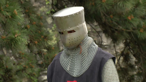 medieval crusader 02 Stock Video Footage