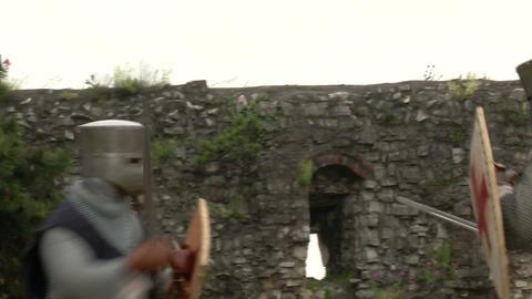 medieval crusader fighting 07 Footage