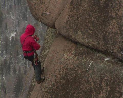 Rock climber Stock Video Footage