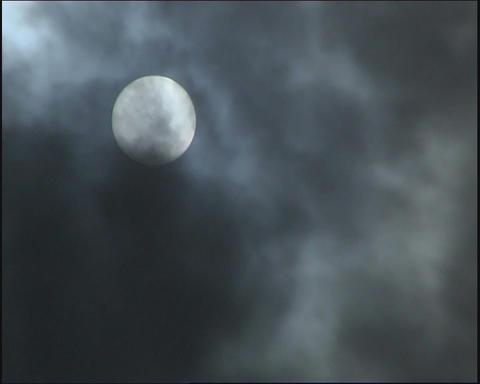 Sun. Grey clouds Stock Video Footage
