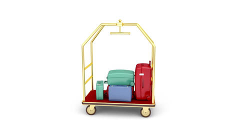 Full baggage cart Animation