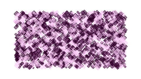 purple plastic square block mosaics,computer chip board,math geometry Animation